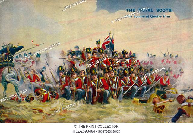 'The Royal Scots. The Square at Quatre Bras', 1815, (1939). Artist: Unknown