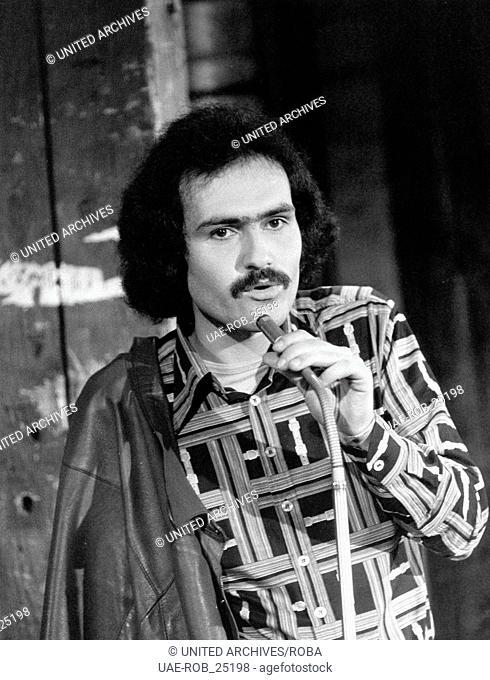 Der Moderator Wolfgang Hahn, Deutschland 1970er Jahre. TV presenter Wolfgang Hahn, Germany 1970s