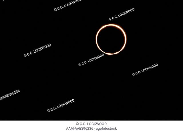 Annular Eclipse 5/30/84, Showing Bailey's Beads, LA