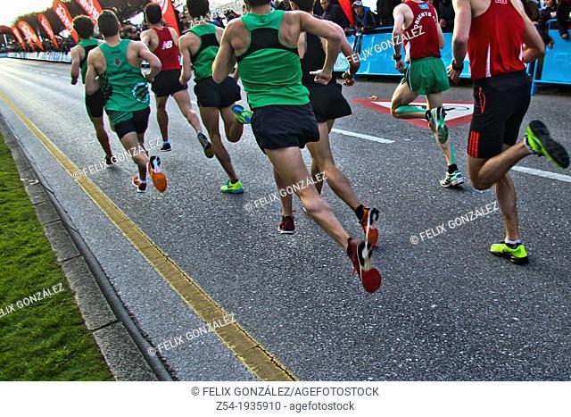 Milla runners, Gijon, Asturias, Spain