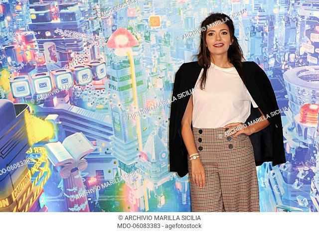 Italian actress Serena Rossi during the of Ralph Spacca Internet animated film photocall, presented at the De Russie Hotel Rome, November 16th, 2018
