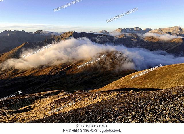France, Alpes Maritimes, Mercantour National Park, landscapes around the Col de la Bonette (2715m), one of the highest roads in Europe