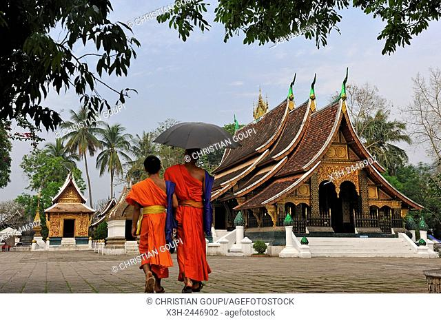 Buddhist temple Wat Xieng Thong, Luang Prabang, Laos, Southeast Asia