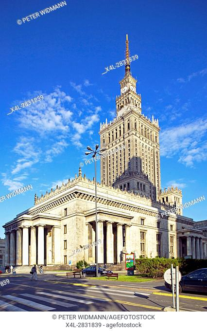 The Palace of culture in Warsaw, Poland, Europe, 2. July 2004