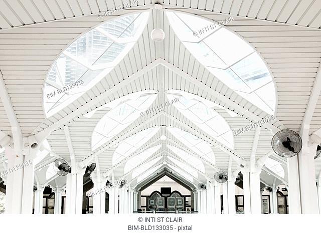 Arches in National Mosque of Malaysia, Kuala Lumpur, Federal Territory of Kuala Lumpur, Malaysia
