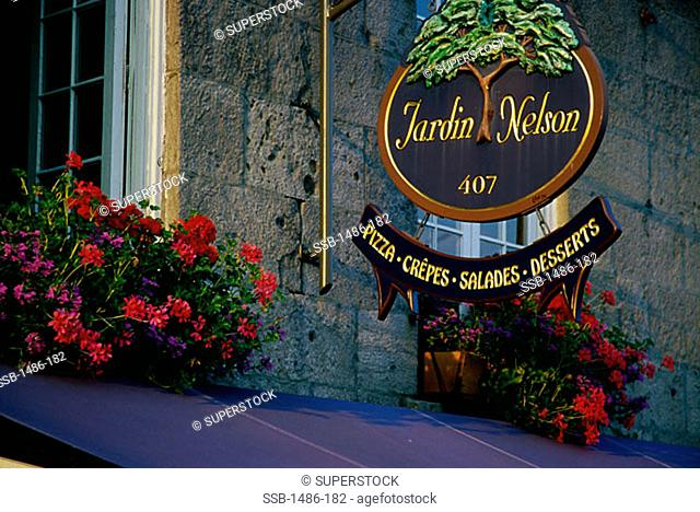 Jardin Nelson Restaurant Montreal Quebec Canada Stock Photos And