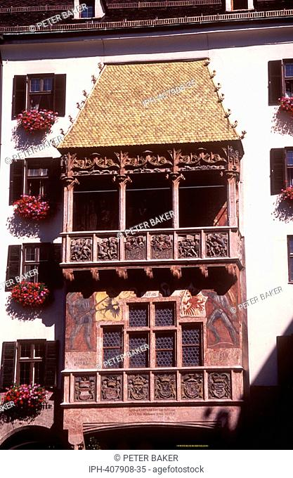 The Golden Roof, a medieval royal box in the Old Town in the city of Innsbruck