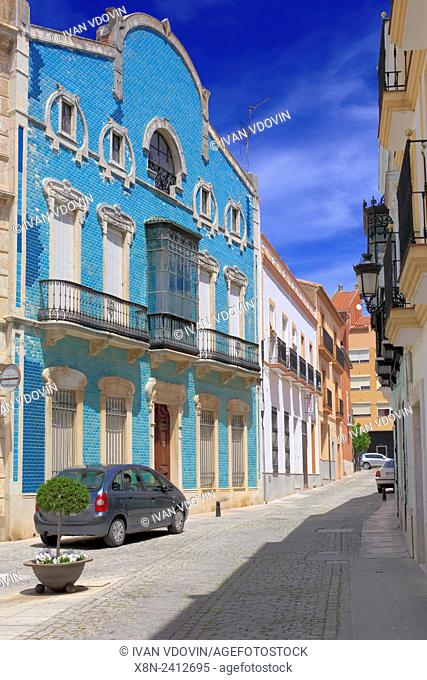 Street in old town, Zafra, Extremadura, Spain