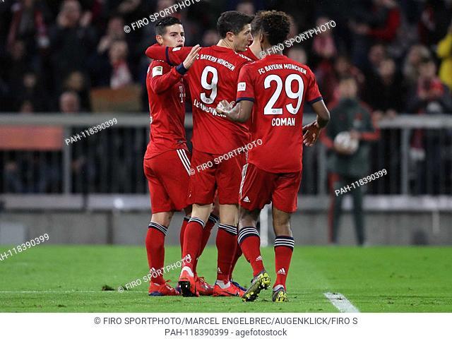 firo: 17.03.2019, Fuvuball, 1.Bundesliga, season 2018/2019, FC Bayern Munich - 1. FSV FSV FSV Mainz 05, James Rodriguez, FC Bayern, Munich, Munich