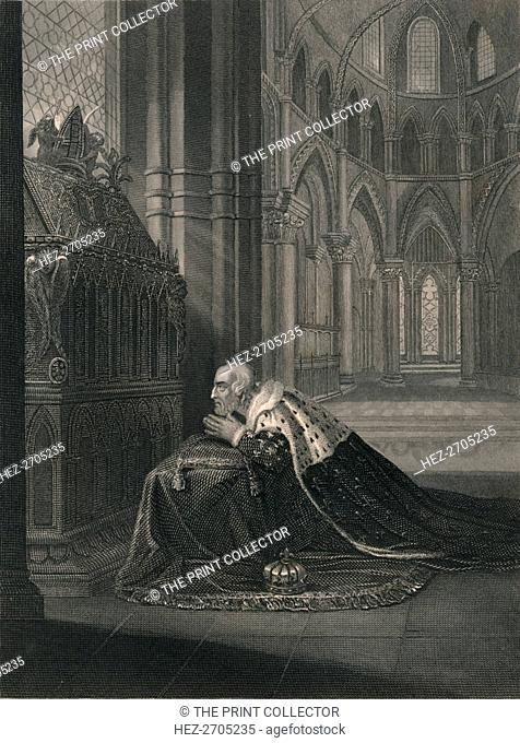 'Lewis VII., King of France, Before Becket's Tomb', (mid 19th century). Creator: J Rogers