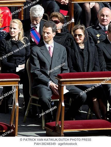 Prince Alois and Princess Sophie of Liechtenstein attend the inauguration mass of Pope Francis in Vatican City, 19 March 2013