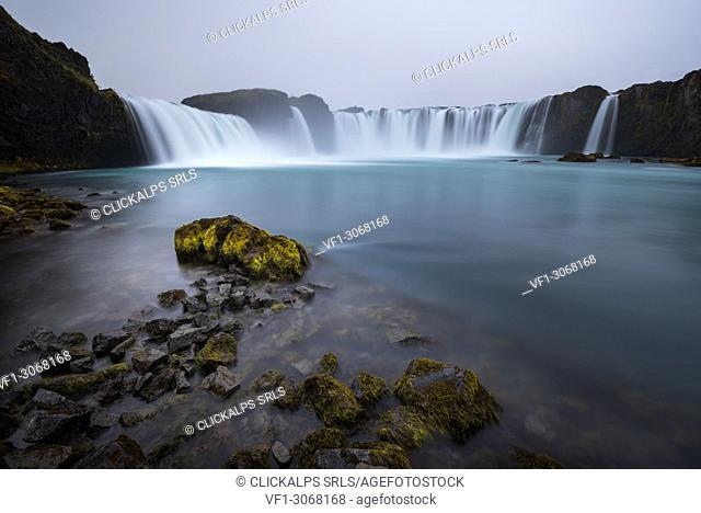 Godafoss waterfall, Northern Iceland, Myvatn region, Iceland