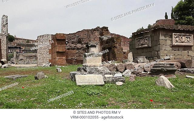 PAN, Daylight. The Basilica Aemilia was a civil basilica, erected in 179 BC by Censor Marcus Fulvius Nobilior, and remodeled several times later