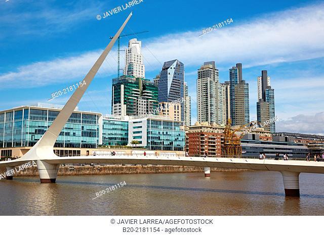Puente de la Mujer, Santiago Calatrava. Puerto Madero. Buenos Aires. Argentina