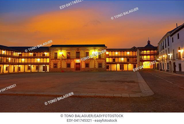 Tembleque Plaza Mayor in Toledo at Castile La Mancha on Saint james way