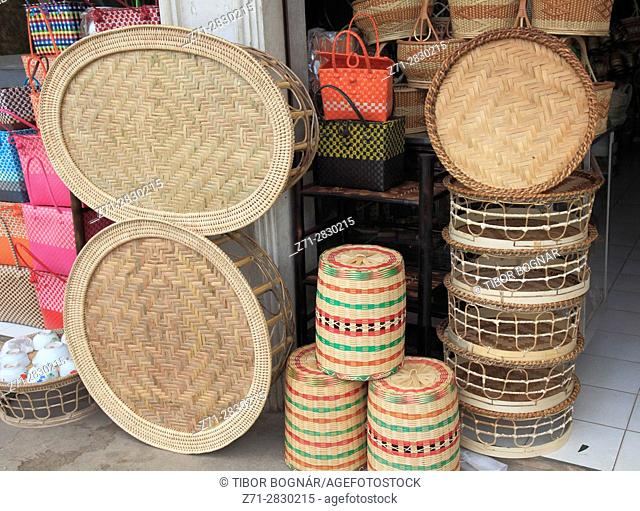 Laos, Vientiane, handicraft shop,