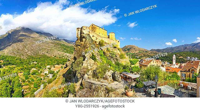 Corte, the Citadel in the Old Town, Corsica Island, France