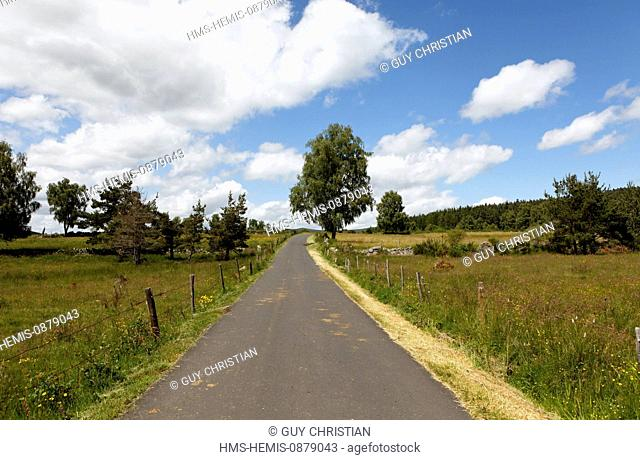 France, Lozere Road to Saint Alban