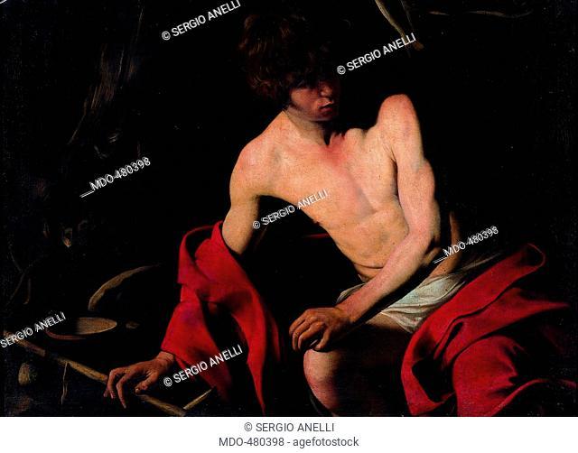 John the Baptist (San Giovanni Battista), by Michelangelo Merisi known as il Caravaggio, 1640, 17th Century, oil on canvas, 94 x 131 cm