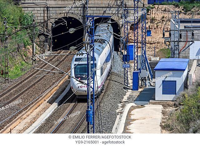 High speed train AVE. LLeida. Spain