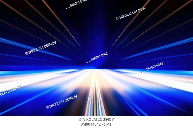 Horizontal vivid digital business centered teleport abstraction design element background backdrop