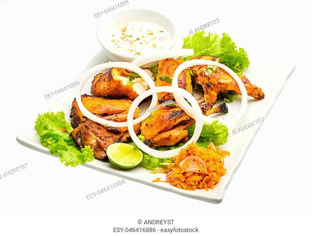 Tandori Chicken - traditional Indian cuisine