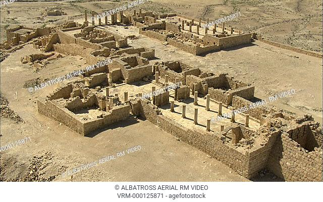 Aerial footage of the ruins of Avdat