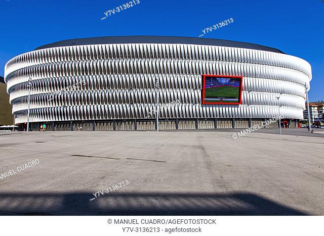 View of Athletic Club's New San Mames stadium, named the beast Sports Building in the world. Bilbao, Biscay, Basque Country, Spain