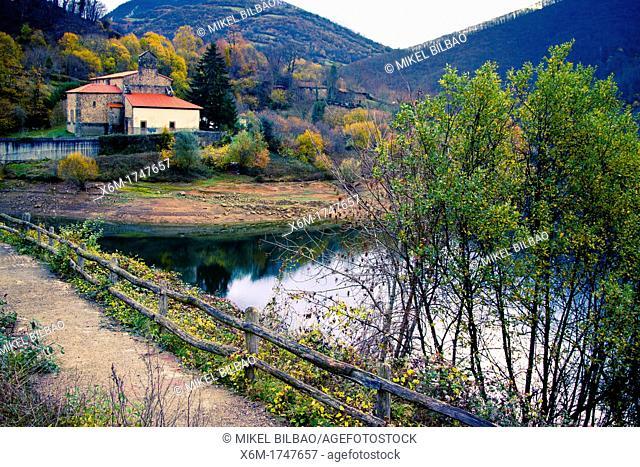 Sta Maria La Real Collegiate church  Tanes  Redes Natural Park, Asturias, Spain