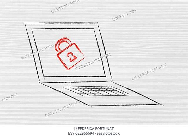 computer with lock