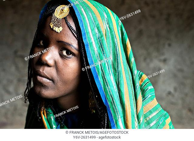 Bride to be. She belongs to the Afar tribe. At Berahile ( Afar state, Ethiopia). Once married, she will become the third wife of her husband in a polygamous...