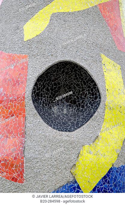 Detail of 'Dona i Ocell' ('Woman and Bird'), sculpture by Joan Miró. Parc de l'Escorxador, Barcelona. Spain