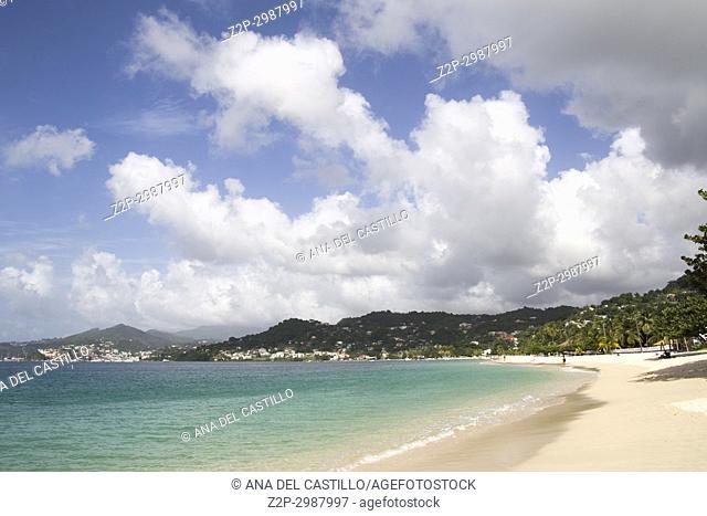 Grand Anse beach Grenada island 'Antilles' or 'West Indian Islands' Caribbean sea