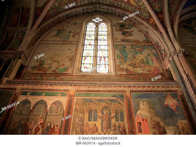 The Basilica of San Francesco d'Assisi, nave of the upper basilica, Assisi, Umbria, Italy