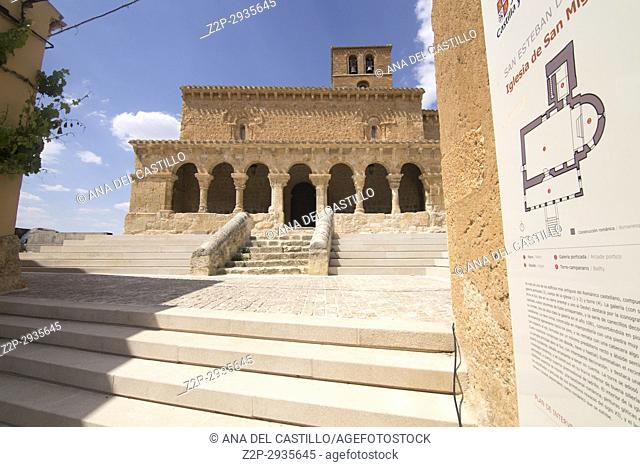 San Miguel in San Esteban de Gormaz village Soria province Castile Leon Spain on June 11, 2017