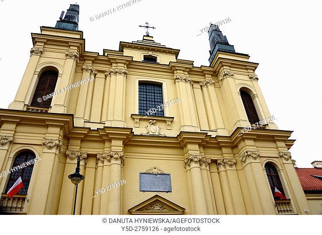 Church of St. Francis - Kosciol pod wezwaniem Stygmatow Sw. Franciszka z Asyzu, dedication Francis of Assisi, church adjoins Franciscan convent in Warsaw's New...