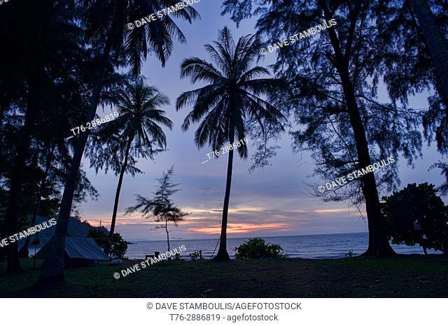 Sunset on Ao Mole beach, Ko Tarutao Island, Thailand