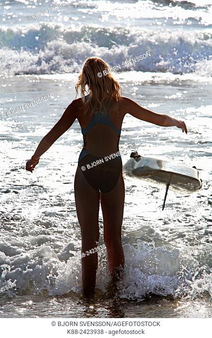 Surf lifesaver. Surfcoast, Victoria, Australia