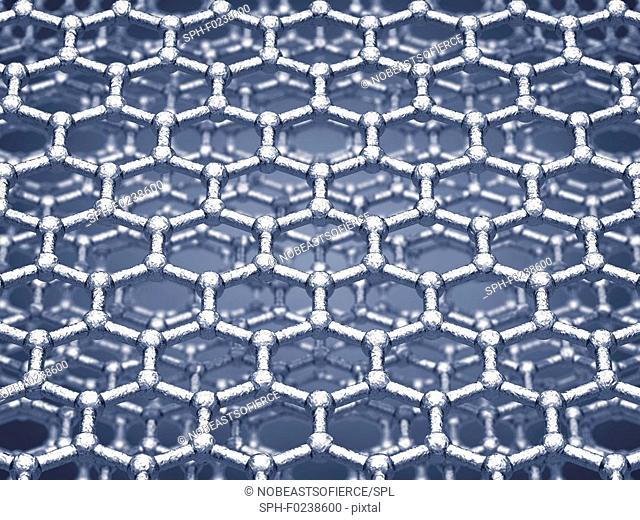 Graphene sheets, illustration