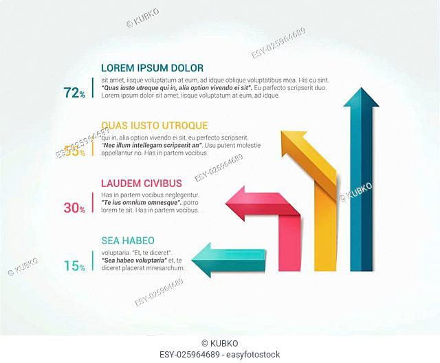 Arrow infographics flowchart. Vector