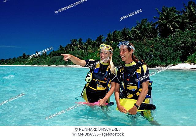 Diving at Maldives, Indian Ocean, Medhufushi, Meemu Atoll, Maldives