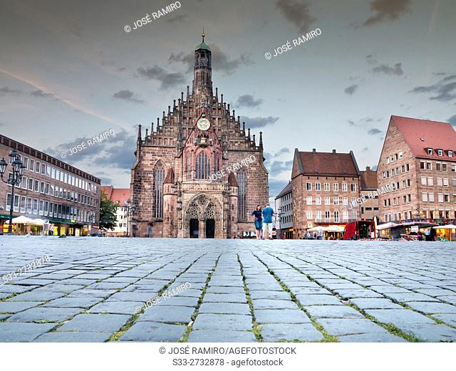 Church of Our Lady in Nuremberg, Germany. Europe