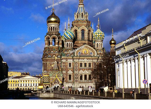 The Resurrection Church of Jesus Christ. Canal Griboedova. Saint Petersburg. Russia
