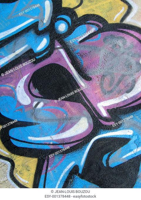 3d letter wall graffiti detail