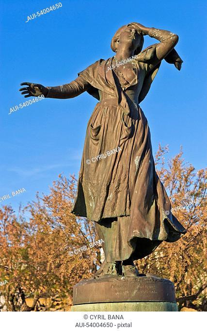 France, Camarque, Saintes-Maries-de-la-Mer, Statue of Mireille