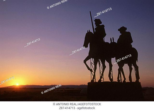 Monument to Don Quixote. Campo de San Juan. Albacete. Castlla-La Mancha. Spain