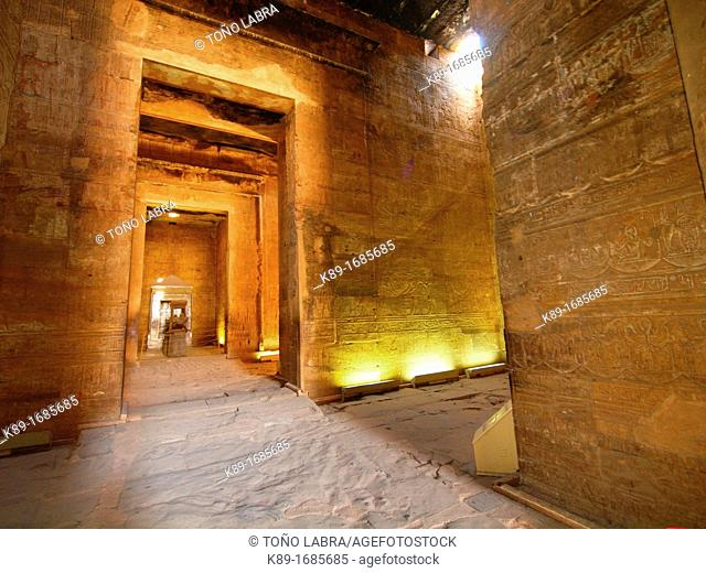 Edfu Temple dedicated to Horus, High Egypt