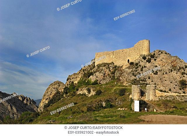 Las Rojas Castle, La Bureba, Burgos province, Castilla-Leon,Spain