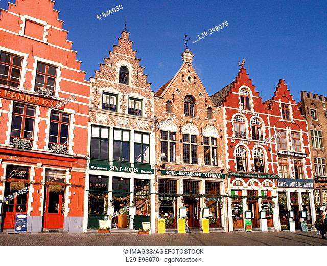 The Market Square (Markt), Brugge, Belgium
