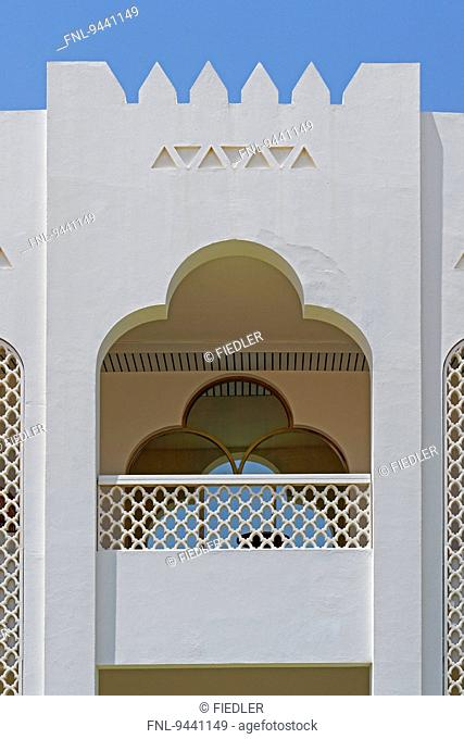 Balcony of Liwa Hotel, Liwa Oasis, Abu Dhabi, United Arab Emirates